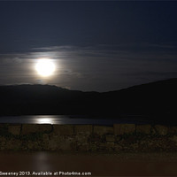 Buy canvas prints of Moonlight reflection by Gillian Sweeney