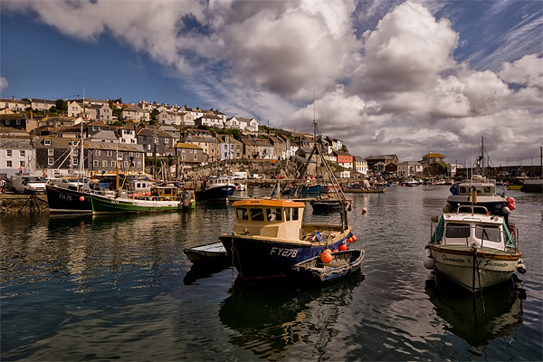 Mevagissey Fishing Harbour in Cornwall Canvas print by Jay  Lethbridge