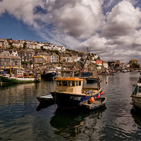 Buy canvas prints of Mevagissey Fishing Harbour in Cornwall by Jay  Lethbridge