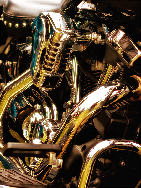 Motorcycle Engine and Chrome Canvas print by Jay  Lethbridge