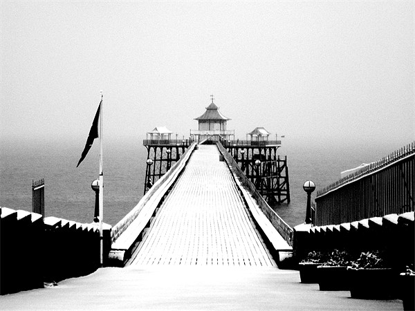 Clevedon Pier Canvas print by Anthony Palmer-Greene