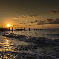 Buy canvas prints of  Sunrise 3 Holland on sea, Essex by Jon Dawrant