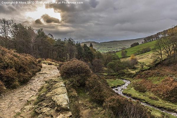 Kinder Scout, Dark Peak, The Derbyshire Peak Dist Canvas print by Nikon D810