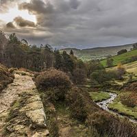 Buy canvas prints of  Kinder Scout, Dark Peak, The Derbyshire Peak Dist by Nikon D810