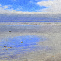 Buy canvas prints of Sky reflections on the sea! by Paula Palmer canvas & prints