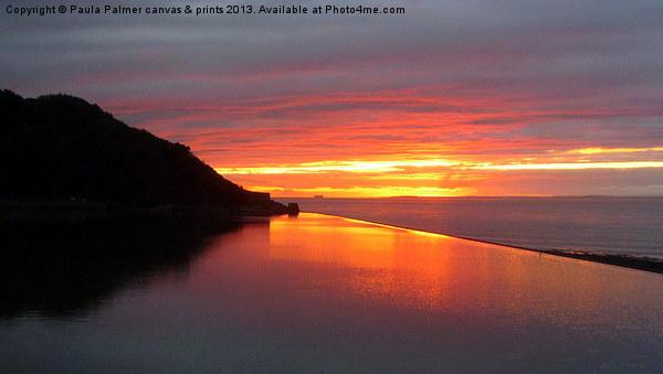 October sunset reflection Canvas print by Paula Palmer canvas & prints