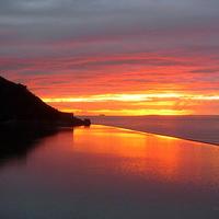 Buy canvas prints of October sunset reflection by Paula Palmer canvas & prints
