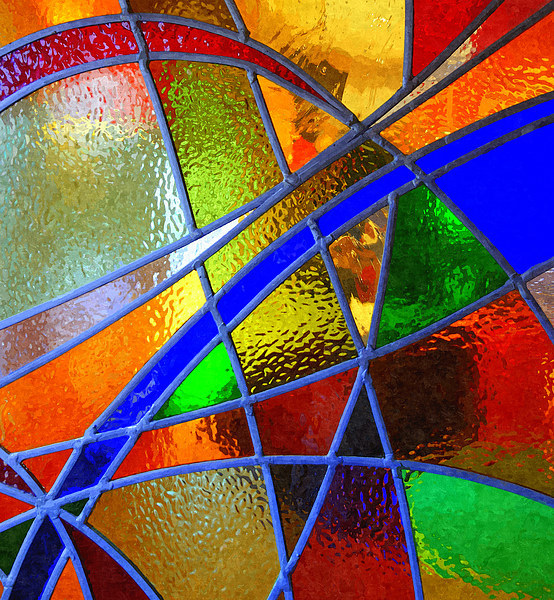 Stained Glass Window Canvas print by Paula Palmer canvas & prints