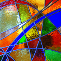 Buy canvas prints of Stained Glass Window by Paula Palmer canvas & prints