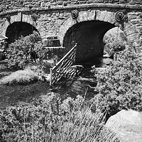Buy canvas prints of A bridge view at Dartmoor National Park Devon by Paula Palmer canvas & prints