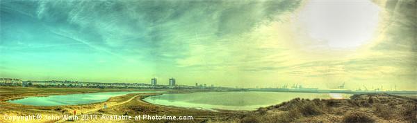 Waterloo Marina Panoramic... Canvas print by John Wain