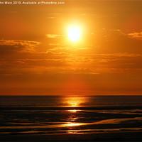 Buy canvas prints of Crosby Sunset by John Wain