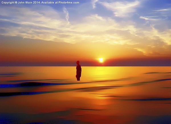 Iron Man at Sunset Canvas print by John Wain
