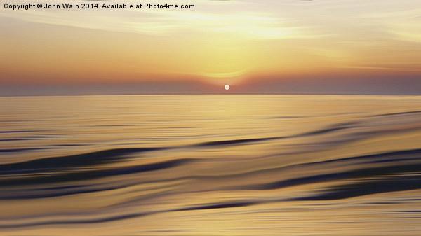 Calm Sea Canvas print by John Wain