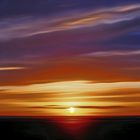 Buy canvas prints of Sunset in the Bay by John Wain
