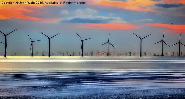 Windmills to the Horizon  Canvas print by John Wain
