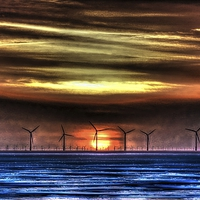 Buy canvas prints of Windmills by John Wain