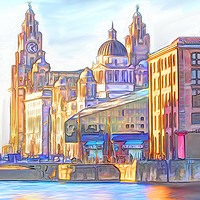 Buy canvas prints of World famous Three Graces (Digital painting) by John Wain