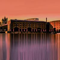 Buy canvas prints of Royal Albert Dock And the 3 Graces (Digital Art) by John Wain