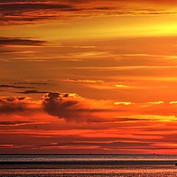 Buy canvas prints of Irish sea Sunset  by John Wain