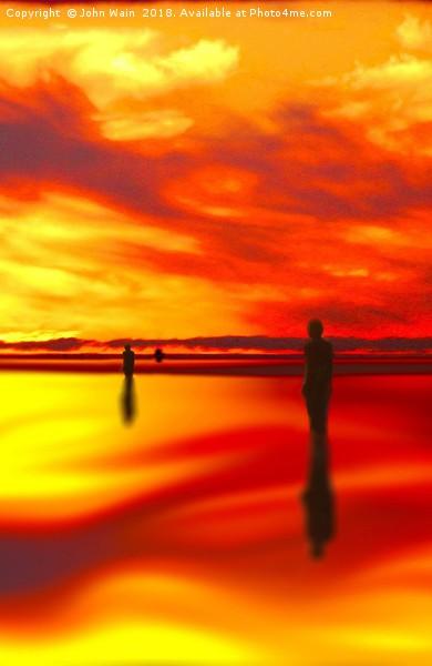 Sunset reflection Canvas print by John Wain