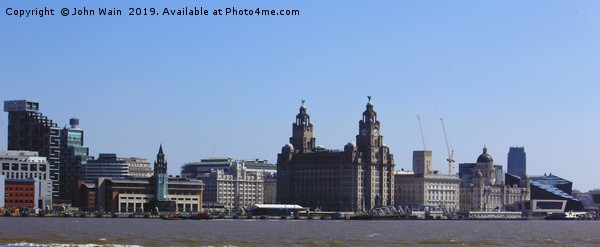 Liverpool Waterfront Skyline Canvas print by John Wain
