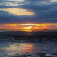 Buy canvas prints of Gormley at Sunset by John Wain