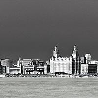 Buy canvas prints of Liverpool Waterfront Skyline (Digital Art) by John Wain