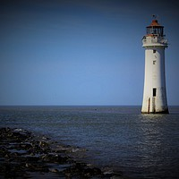 Buy canvas prints of New Brighton Lighthouse by John Wain
