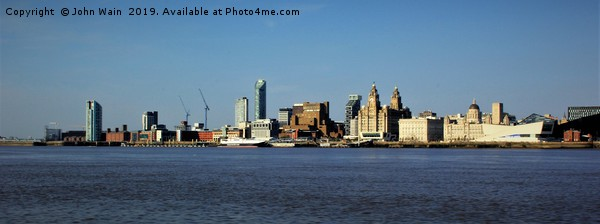 Liverpool Waterfront Skyline Canvas print by John Wain