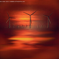Buy canvas prints of After Glow by John Wain