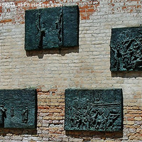 Buy canvas prints of Holocaust Memorial Ghetto Vecchio Venice by Roger Wain