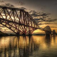 Buy canvas prints of Sunrise over the bridge by jim sloan scotland canvas pri