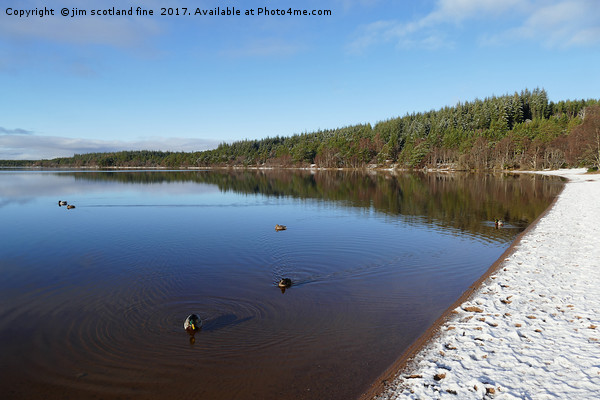 Loch Morlich Winter time Canvas print by jim scotland fine