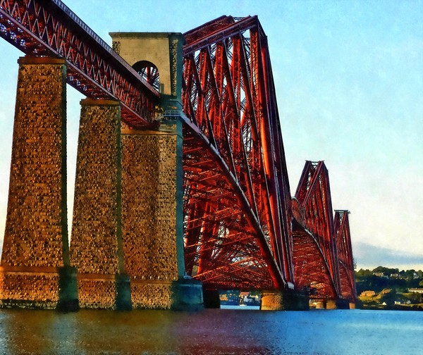 forth rail bridge Framed Mounted Print by dale rys (LP)