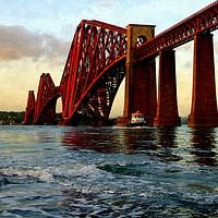 Buy canvas prints of forth rail bridge  by dale rys (LP)
