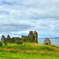 Buy canvas prints of dunure castle  by dale rys (LP)