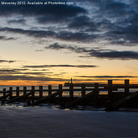 Buy canvas prints of Sunrise at Aberdeen Beach by Michael Moverley