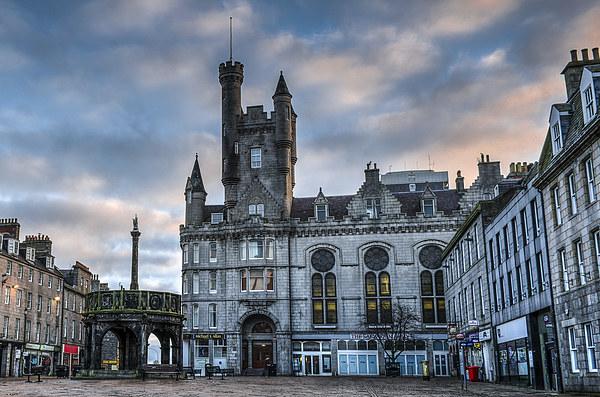 Aberdeen Castlegate Sunrise Canvas print by Michael Moverley