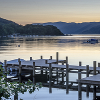 Buy canvas prints of  Sunset at St Fillans by Michael Moverley