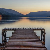 Buy canvas prints of Jetty at St Fillans, Loch Earn by Michael Moverley