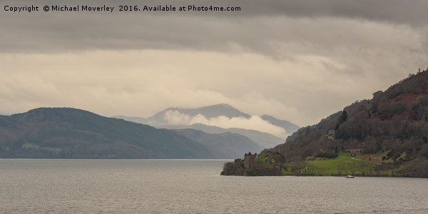 Urquhart Castle in the Mist Canvas print by Michael Moverley