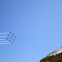 Buy canvas prints of red arrows display team. by ann  fellows