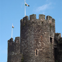 Buy canvas prints of Conwy castle turret by Sam Pattison