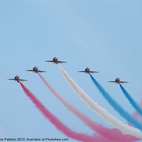 Buy canvas prints of 5 Red Arrows by Sam Pattison