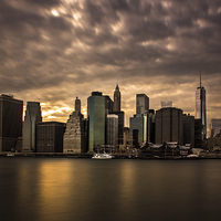 Buy canvas prints of Manhattan Sunset by Jed Pearson