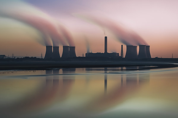 Smoke on the water Canvas print by Jed Pearson