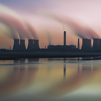 Buy canvas prints of Smoke on the water by Jed Pearson