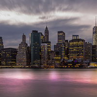 Buy canvas prints of Lower Manhattan Skyline by Jed Pearson