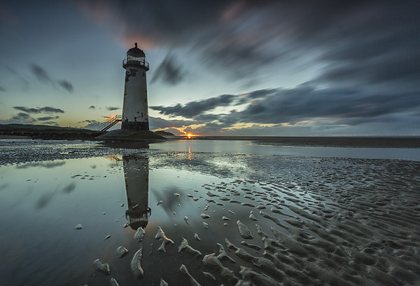Point of Ayr Lighthouse Print by Jed Pearson